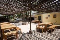 Outside dining & education area