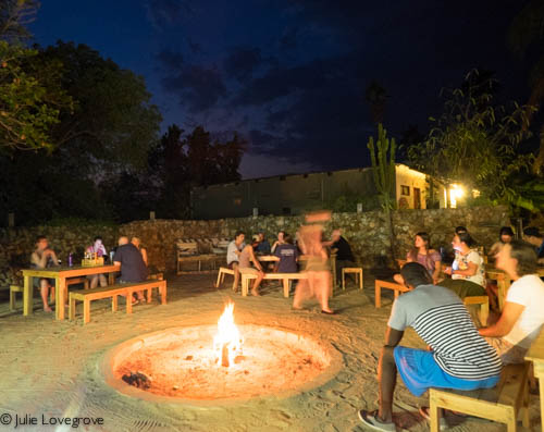 The boma at night