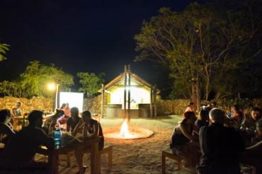 The boma at night