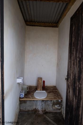 Long drop toilets so no flushing!