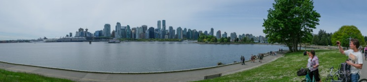 Cycling round Stanley Park